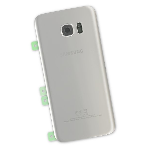 Galaxy S7 Edge Rear Glass Panel/Cover - Original / Part Only / Silver