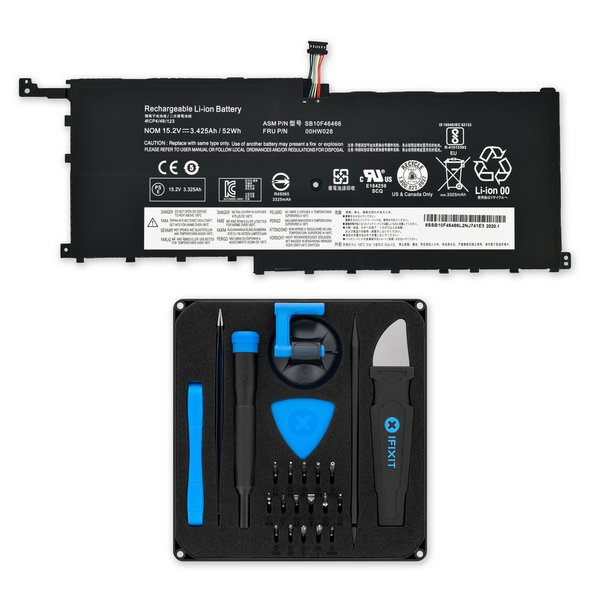 Lenovo ThinkPad X1 Yoga 1st Gen and X1 Carbon 4th Gen 52Wh Battery / Fix Kit