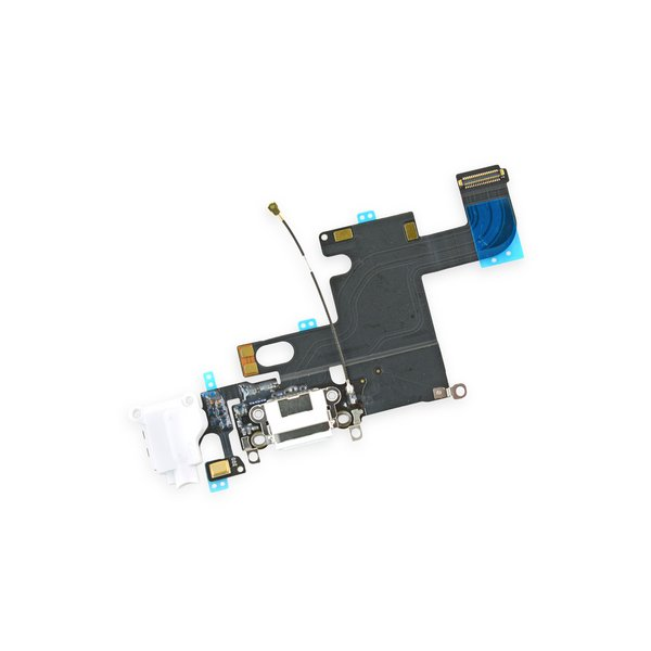 iPhone 6 Lightning Connector and Headphone Jack / White / New / Part Only