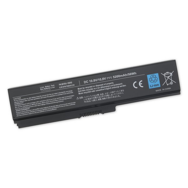 Toshiba Satellite L300, M300, and M800 Series Laptop Battery / Standard Capacity