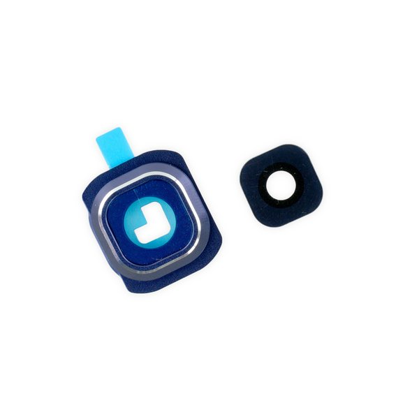 Galaxy S6 Rear Camera Bezel & Lens Cover / Blue / Part Only