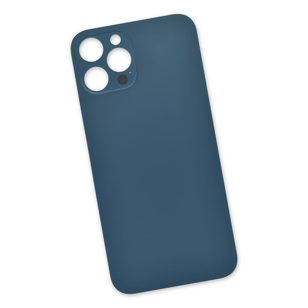 """iPhone 12 Pro Max Aftermarket Blank Rear Glass Panel / Blue """"Pacific Blue"""""""
