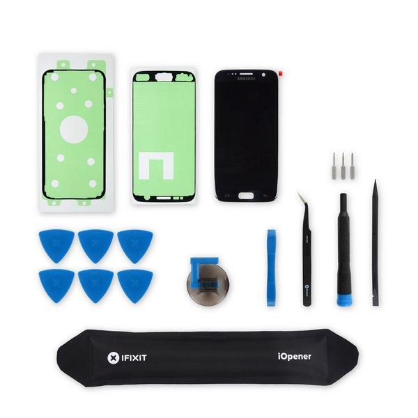 Galaxy S7 Screen / Black / Fix Kit v3 / driver + SIM Tool / AMOLED
