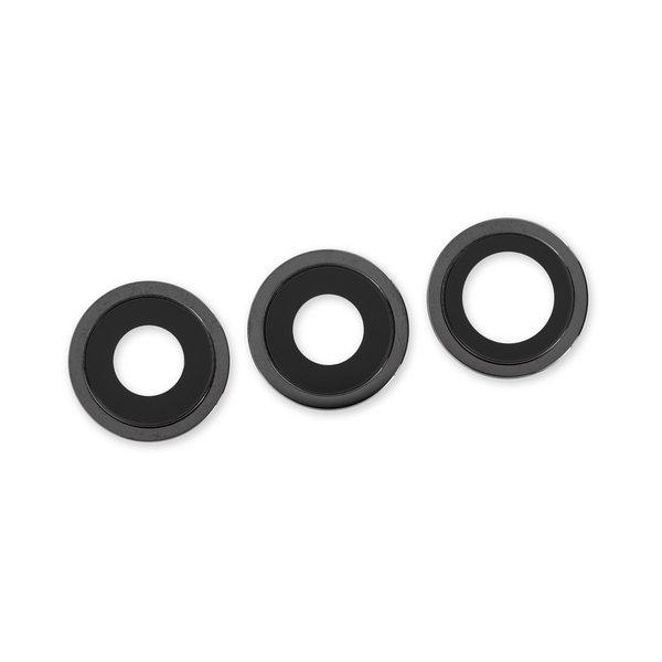 "iPhone 12 Pro Rear Camera Lenses and Bezels / Dark Gray ""Graphite"""