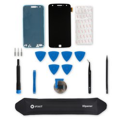 Moto Z Play Screen / Black / Fix Kit v3 / driver + SIM Tool