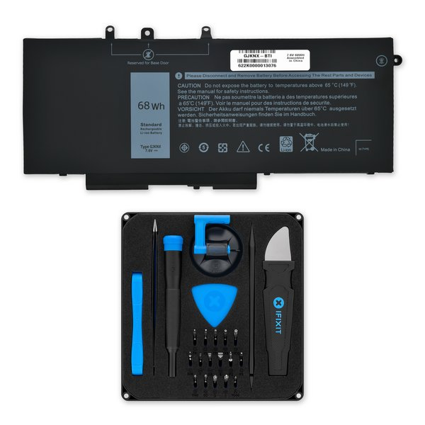 Dell Latitude 5280, 5288, 5480, 5290 DNDM6, 5590, and Precision 15 3520 Battery / Fix Kit