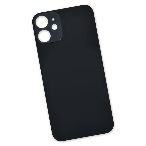 iPhone 12 mini Aftermarket Blank Rear Glass Panel / Black