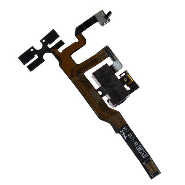 iPhone 4S Headphone Jack & Volume Control Cable / Black / New