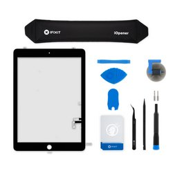 iPad 5 Screen Digitizer / New / Fix Kit / Black / With Adhesive Strips