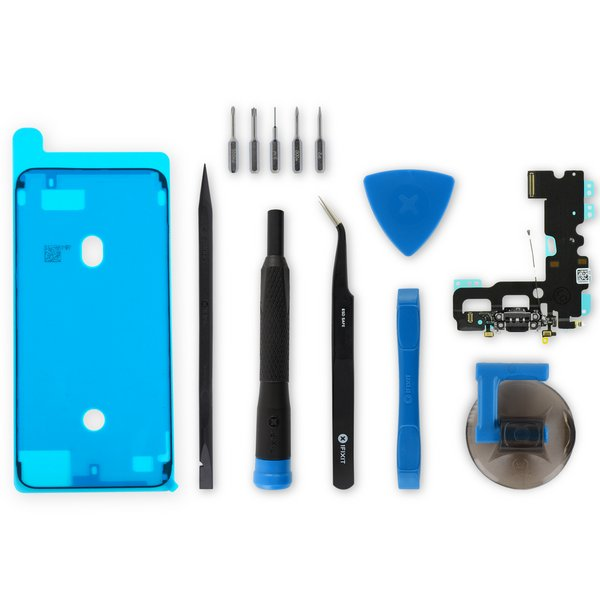 iPhone 7 Lightning Connector Assembly / Black / New / Fix Kit