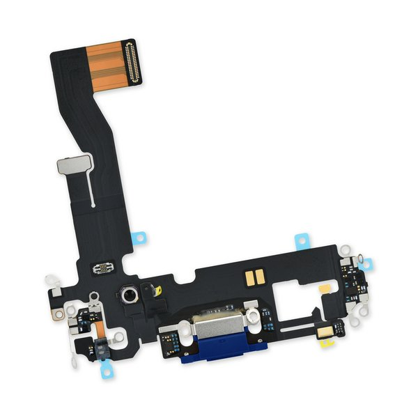 iPhone 12/12 Pro Lightning Connector Assembly / Blue