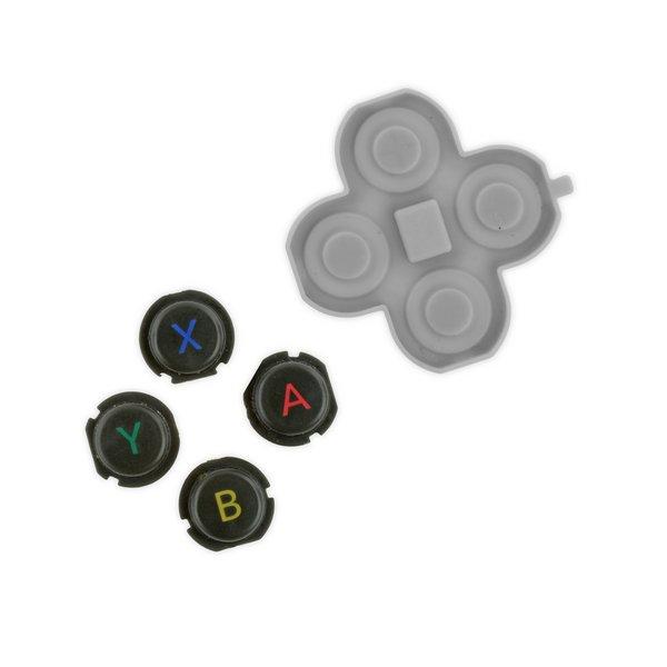 Nintendo 3DS XL (2015) Action Buttons & Rubber Gasket