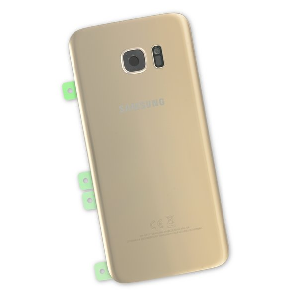 Galaxy S7 Edge Rear Glass Panel/Cover - Original / Part Only / Gold