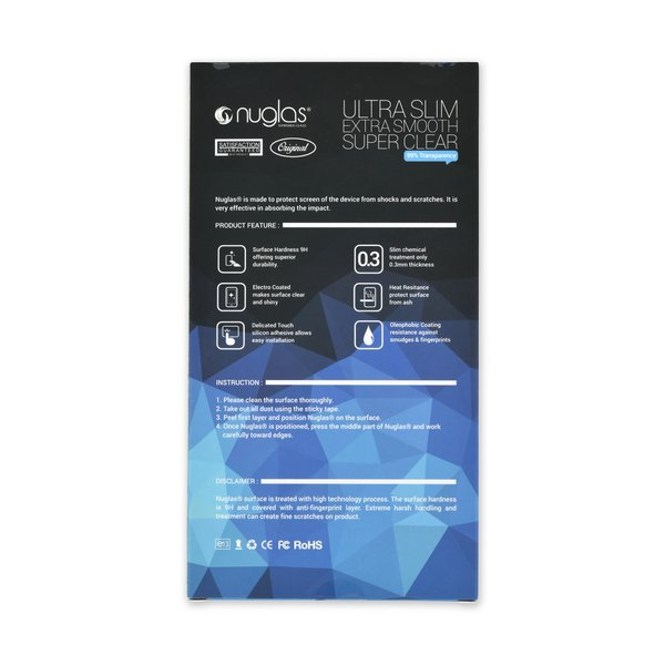 NuGlas Tempered Glass Screen Protector for iPhone 12/12 Pro