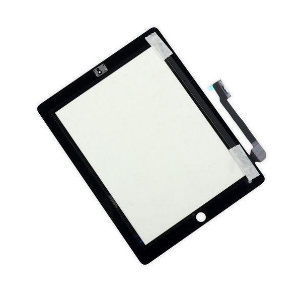 iPad 3/4 Screen Digitizer / New / Part Only / Black / Without Adhesive Strips
