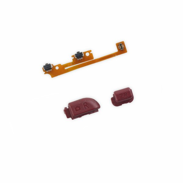 Nintendo 3DS XL (2015) Right Trigger Button and ZR Button Assembly / Red