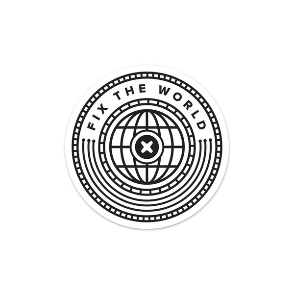 Fix the World Sticker / White