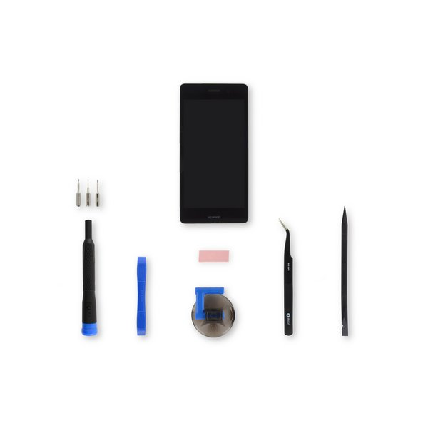 Huawei P8 Lite Screen / Black / Fix Kit