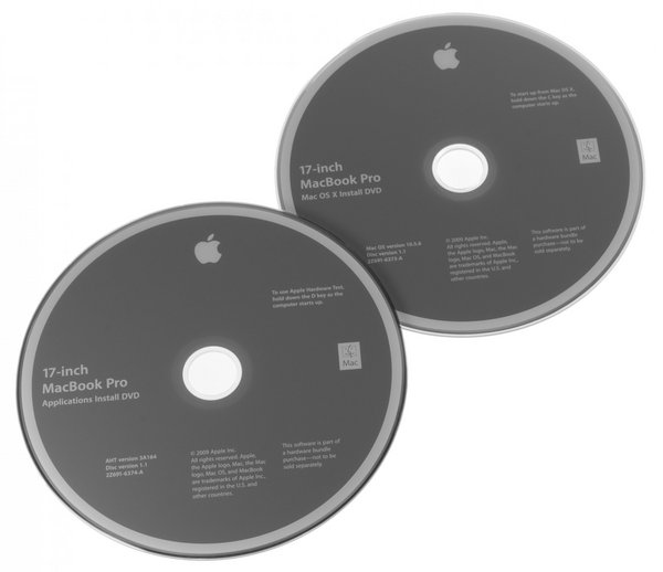 "MacBook Pro 17"" Unibody (Early 2009) Restore DVDs"
