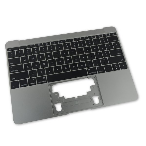 "MacBook 12"" Retina (Early 2015) Upper Case with Keyboard / A-Stock / Dark Gray"