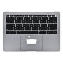 """MacBook Air 13"""" (Late 2018-Mid 2019) Upper Case with Keyboard / A-Stock / Dark Gray"""