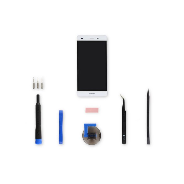 Huawei P8 Lite Screen / White / Fix Kit