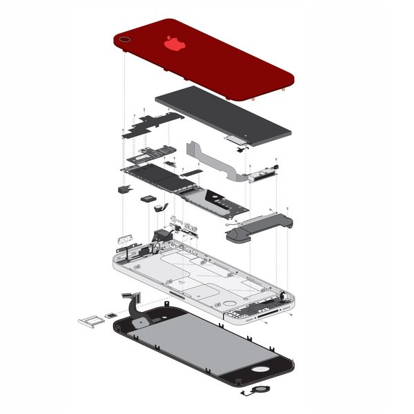 iPhone 4 (GSM/AT&T) Blank Rear Glass Panel