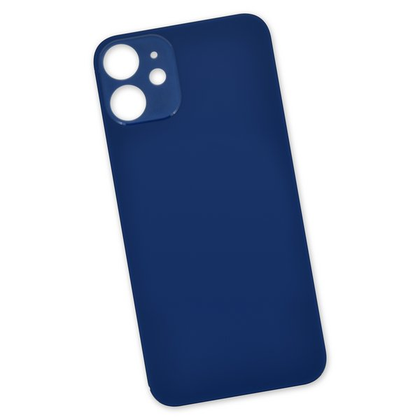 iPhone 12 mini Aftermarket Blank Rear Glass Panel / Blue