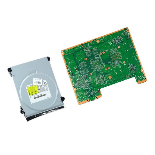 Xbox 360 Falcon Motherboard and Paired Optical Drive