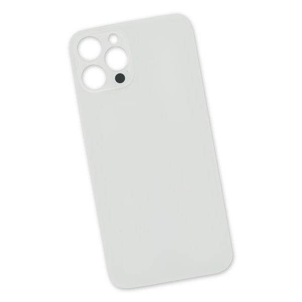 iPhone 12 Pro Max Aftermarket Blank Rear Glass Panel / Silver