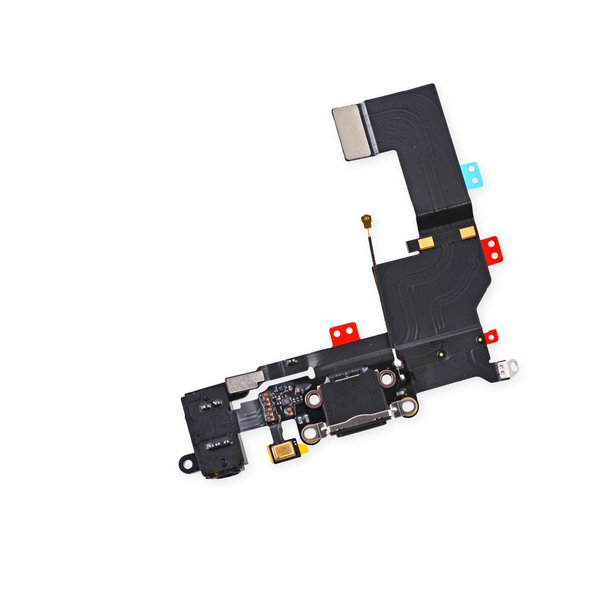 iPhone 5s Lightning Connector and Headphone Jack / New / Black / Part Only