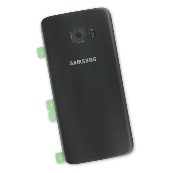 Galaxy S7 Edge Rear Glass Panel/Cover - Original / Part Only / Black