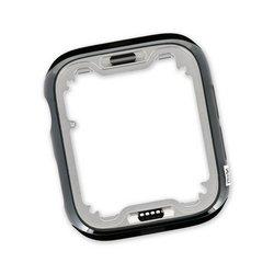 """Apple Watch (40 mm Series 6) Stainless Steel Frame / Dark Gray """"Graphite"""""""