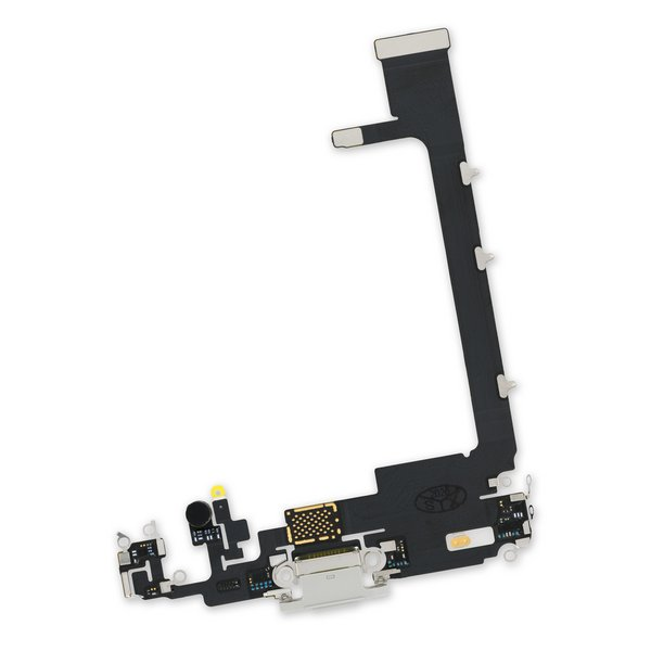 iPhone 11 Pro Max Lightning Connector Assembly / White / New / Without PCB