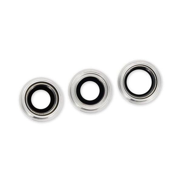 iPhone 12 Pro Rear Camera Lenses and Bezels / Silver